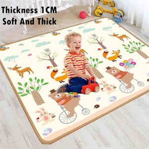 Thicken 1cm Foldable Baby Play Mat Xpe Puzzle Mat Educational Children's Carpet in the Nursery Climbing Pad Kids Rug Games Toys 210401