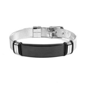 High-quality luxury goods Jewelry titanium steel lettering Bracelet net belt adjustable blank curved brand for men and women No original box727