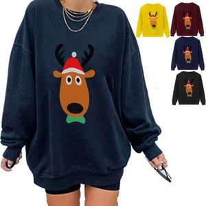 Christmas Printed Loose Thickened Sweatshirt Women Fall 2021 Clothing Oversized Hoodie Tops Women's Hoodies & Sweatshirts