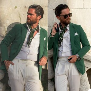 Green Mens Jacket Tuxedo High Quality Plus Size Wedding Blazer Tuxedos Prom Party Coat Formal Wear Only One Piece