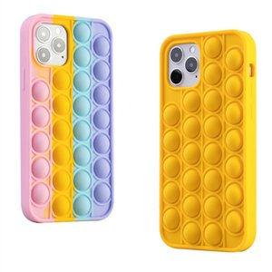 2021 Arrival Pop Fidget Bubble Silicone CellPhone Cases For iPhone 7 8 Plus X XR 11 12 Pro Max Anxiety Stress Reliever