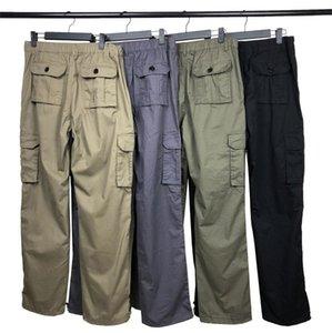 Calças dos homens Top Quality Designers Calças Trousers Patches de Crachá Cartas Homens Mulheres Zíper Trilha Calça Algodão Calças de Carga Casuais Streetwear Bib Geral Sport Homme