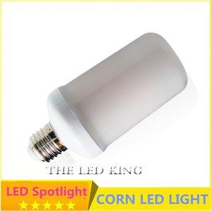 Bulbs SonQin Dynamic Flame Effect LED Corn Light Bulb 110V 220V E27 9W 15W Simulation Fire