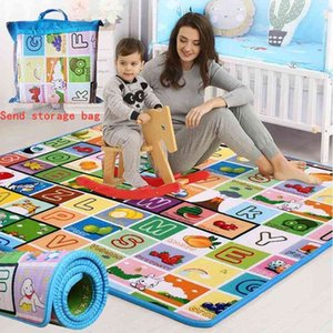 Baby Crawling Play Mat 1.5*1.8 Meter Climb Pad Double-Side Fruit Letters Animal Foldable Baby Toys Playmat Kids Carpet Baby Game 210401