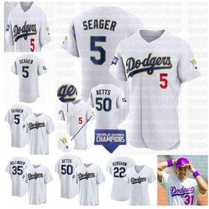 Los Angeles 2021 Goldmedaille World Series Jersey Dodgers Mookie Betts Cody Bellingerjulio Urias AJ Pollock Chris Taylor Will Smith Turner Seerger Hernandez Muncy Lux