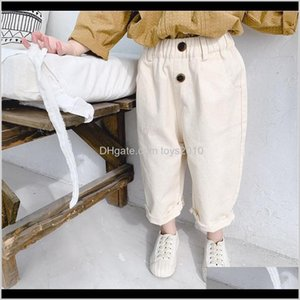 Leggings Tights Baby Clothing Baby, Kids & Maternity Drop Delivery 2021 Spring Girls Casual Solid Color Trousers All-Match Pants 1- Lj201019