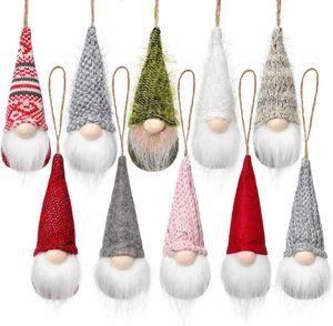 Christmas Tree Hanging Gnomes Ornaments Swedish Handmade Plush Gnomes Santa Elf Hanging Home Decorations Holiday Decor GWF10268