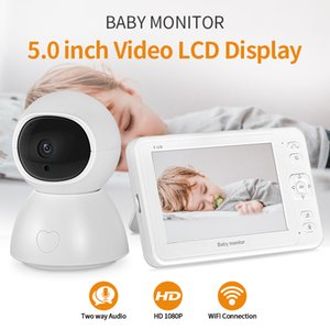 Wireless 5.0 Inch Color Display 1080P Video Baby Monitor with Camera Temperature Motion Detection Baby Phone Wifi Nanny Camera