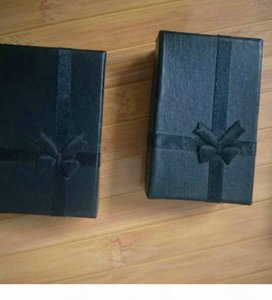 Black 5*8*2.5cm Fashion for Charms Beads Gift Box Packaging for Pendants Necklaces Earrings Rings Bracelets Jewelry