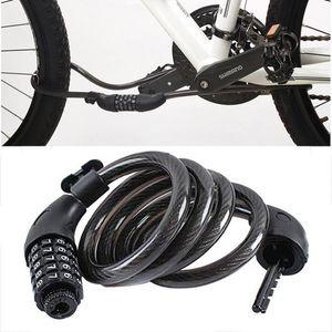 Bike Locks 5 Digit Coded Lock, Black 1200x12mm Lock Camper ABS Steel Cable Bicycles Accessories Bicycle Anti-thef