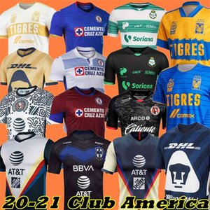 Club 20 21 Amérique Cruz Azul Soccer Jersey 2021 Guadalajara Chivas Tijuana Unam Tigres à la maison Troisième Liga MX Football Shirts Santos Laguna