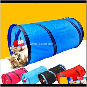 Behavior Training Funny Pet Cat 2 Holes Balls Collapsible Crinkle Kitten Toys Puppy Ferrets Rabbit Play Dog Tunnel Tubes 2550Cm J6Wsf Hnlzy