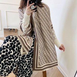 Winter Scarf Womens Winter Internet Celebrity FF New Cashmere Long Wild Shawl South Korea Dongdaemun Fashion Scarf