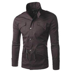 망 얇은 섹션 스포츠 재킷 패션 트렌드 긴 소매 단추 지퍼 코트 디자이너 남성 겨울 스탠드 업 칼라 캐주얼 슬림 겉옷