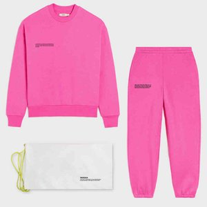 Hoodies Solid Sweatsuit Set for Women Two Piece Outfits Oversized French Terry Tops and Jogger Tracksuits Loose Trousers