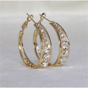 FactoryFRVL large Cross ring diamond Earrings inlaid personalized ear jewelry