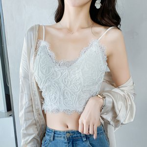 Sling Lace Small Vest Women's Summer Net Red Brain Rope Sexy Back with Short French Top Can Be Worn Out Trend NT9X