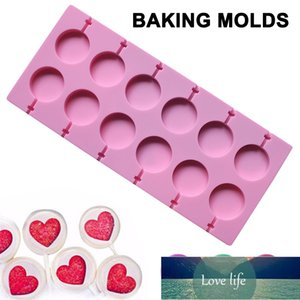 HOT Round Shape Silicone Mold Lollipop Mould Home DIY Chocolate Candy Baking Tool Suit for Lollipop Cake Fondant Candy Cookies