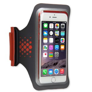 LENTION Sporty Series Armband, Water Resistant, Compatible with 3.5 to 5 inch Phones (18.5 inch, Gray & Orange)