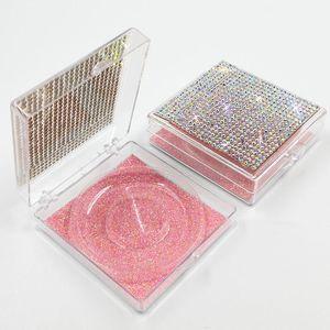 Eyelash Packaging Box Transparent Rhinestone Packing Case Muti Color Thin Falt Boxes Square Neto Bottom Card Cosmetic Decoratation 3 7ye C2 4TZF PXOZ