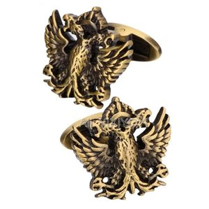 YIXIYOYI Vintage Gold Silver Color Flying Eagle Cufflink for Mens Shirt Cuff Metal Cufflinks For Man Party Punk Male Gift