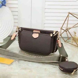 Wholesale Shoulder Bags three piece set handbags for women leather lady messenger satchel cross body bag package purse