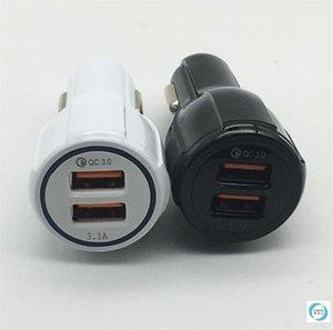 OEM دوا 2 منفذ USB شاحن سيارة سريع 5 فولت 9 فولت 12 فولت 3.1a شحن سريع لسامسونج S8 S7 iPhone6 7 زائد الهاتف العالمي