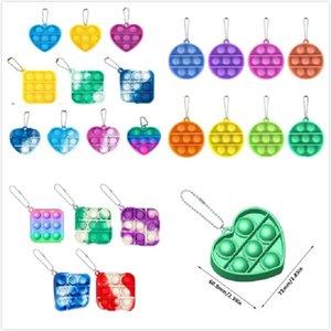 Mini Push Pop Blase Sensory Spielzeug Autismus Bedürfnissen Squishy Stress Reliever Spielzeug Erwachsenen Kind Funny Anti-Stress Es Zappeln Schlüsselanhänger