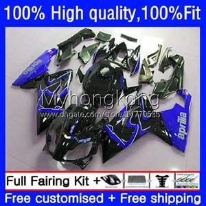 Injection Fairings For Aprilia RS-125 RS4 RSV 125 RS 125 RR 125RR RSV-125 8No.29 RSV125 RS125 R 06 07 08 09 10 11 RSV125RR 2006 2007 2008 2009 2010 2011 Blue black OEM Body