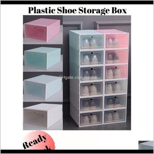 Boxes Bins Housekeeping Organization & Garden Drop Delivery 2021 Colourful Thicken Pp Plastic Shoe Cabinet Dust-Proof Storage Box Home Simple