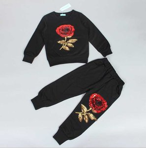 Suit 2021 Big lothing Sets Coat + Pants Handsome Boy Spring And Autumn Children Sports Two-piece Trend