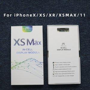 10 قطع نوعية جيدة oled lcd عرض لمس الشاشة محول الأرقام الجمعية استبدال أجزاء ل فون x xs xr