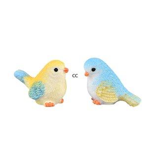 Cartoon Mini Bird Miniature Parrot Figurine Gardening Plant Resin Craft Ornament Gift Cacti Succulent Potted Decor Accessory Fairy DHD10368