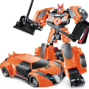 Anime Series 4 Toys Alloy Metal Deformation Robot Car Action Figure Brinquedos Kids Cool Model Boys Toys Christmas Gifts