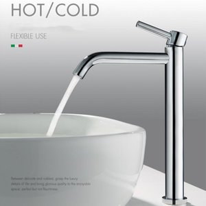 Vidric Chrome Bathroom Sink Faucet Hot and Cold Single Lever Basin Faucet North Europe Style Total Brass