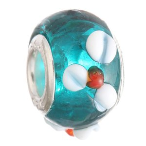 2015 New Glass Beads Charms pretty European Murano Glass Biagi Large Big Hole Rroll Beads Fit For Charm Bracelets&Necklace Mix Color 666 Q2