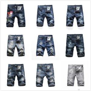 DSQUARED2 DSQUARED DSQ DSQ2 DsqErkek Kısa Denim Jeans Düz Delikler Sıkı Kot Rahat Yaz Gece Kulübü Mavi Pamuk Erkekler Pantolon İtalya Sty ofrDsqDSQ2 DGQ