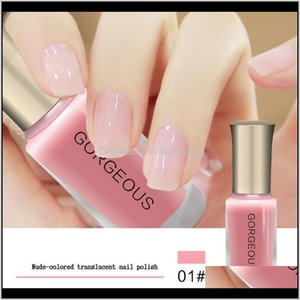 Subtransparent Polish Jelly Translucent Nail Varnish Quick Dry Clear Lacquer 10Ml Candy Nude Color Environmental Protection Fhovv Npoc3