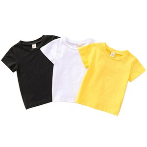 Kids Solid Colors T-shirts 3 Colors Short Sleeve Tops Infant Toddler Baby Clothes Boys Casual T-shirts Vetement Bebe 06210128