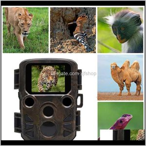 Cameras Mini 300 Trail Night Vision 12Mp 1080P Wildlife Hunting Camera Scout Guard Infrared Ir Range Up To 65 Ft Po Traps Frq84 Yns27