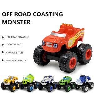 6pcs Inertial Pull Back Car Russian Crusher Truck Vehicles Figure Blaze Toys Blaze The Monster Off Road Car Gifts For Kids Toys