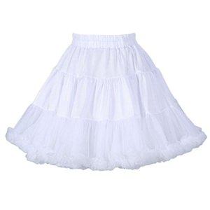 Women's Sleepwear 40GC Women Girls Puffy Tutu Skirt Lolita Cosplay Party Tulle Ballet Ruffles Petticoat