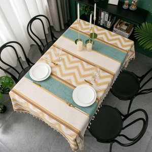 Table Cloth Track On The Decoration Dining Room For Home Textiles Rectangular Tablecloths Cover Stripe Modern Party