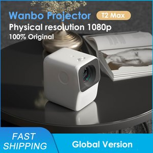 Global Version Wanbo T2 MAX LED Portable 1920*1080P Vertical Keystone Correction For Home Theater Projector