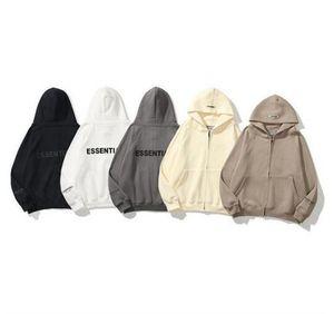 2021 lastest high quality Warm ESSENTIALS Hooded Hoodies Mens Womens Fashion designers Streetwear Zipper Sweatshirts Loose Hoodies Lovers Tops Clothing