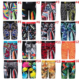 Mens Boys Shorts Designer Boxers Quick Dry Breathable Briefs Men Underwear Animal Shark Print Short Pants Sports Underpants Summer Shorts