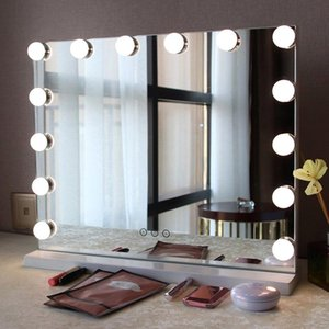 Strings LED Makeup Mirror Lamp Bulb Hollywood Lights USB Wall Light 10pcs Dimmable Touches Control Dressing Table Lighting