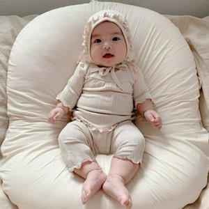 2021 Bahar ve Yaz Kore çocuk giyim taban seti pamuk pijama bebek giysileri ev clothes4w2j