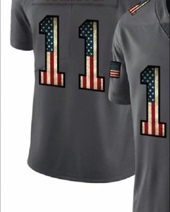 Professional Custom Jerseys PHI 11 Embroidered Carbon Black Retro Flag Limited Mens American Football Jersey A