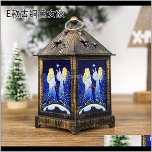 Yomdid украшения для домашнего ветра светодиодный свет окрашенные золотыми рождественские украшения рождественские украшения подвески swy ddmut zf826